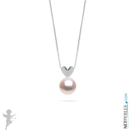 White Akoya Pearl Pendant - Sterling Silver