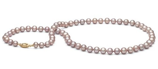 16-inch Freshwater Pearl Necklace 6-7 mm Lavender