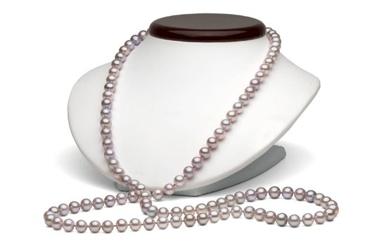 45-inch Freshwater Pearl Necklace, 7-8 mm, Lavender