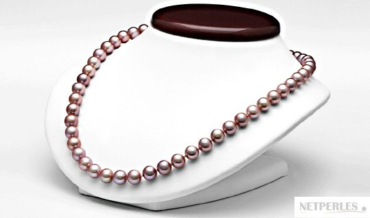 18-inch Freshwater Pearl Necklace 9-10 mm Lavender