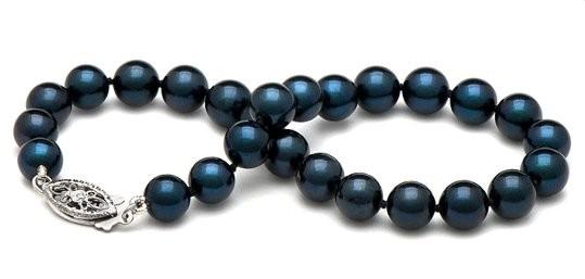 7-inch Cultured Akoya Pearl Bracelet 6-6.5 mm AA+ black