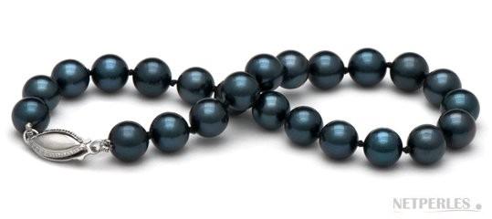 7-inch Cultured Akoya Pearl Bracelet 6.5-7 mm AA+ black