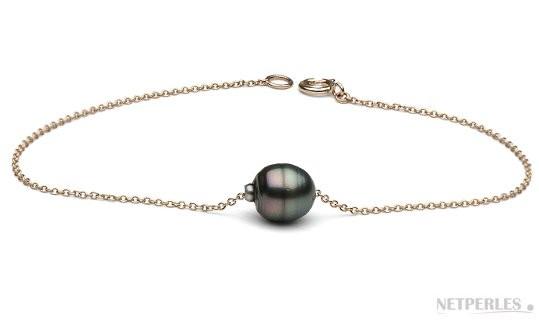 Tahitian Baroque Pearl Bracelet on 14k Gold chain