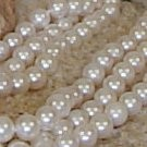 Triple Strand Freshwater Pearl Necklace 8-9 mm white