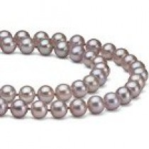 Double Strand Lavender Freshwater Pearl Necklace 6-7 mm