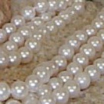 Triple Strand Freshwater Pearl Necklace 6-7 mm white