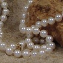 35-inch Freshwater Pearl Necklace, 6-7 mm, white