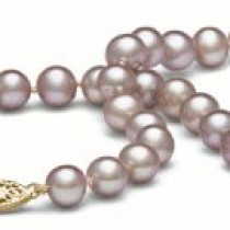 18-inch Freshwater Pearl Necklace, 7-8 mm, Lavender