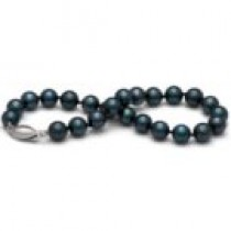 7-inch Cultured Akoya Pearl Bracelet 6.5-7 mm AA+ black