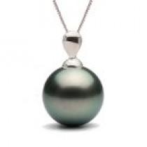 LACRIMA Sterling Silver Black Tahitian Pearl Pendant