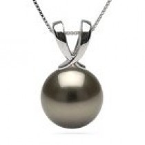 RUBAN Sterling Silver Black Tahitian Pearl Pendant