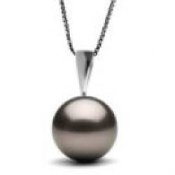 ARGENTUM Sterling Silver Black Tahitian Pearl Pendant