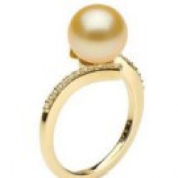 KARMA 9-10 mm Golden South Sea Pearl Ring