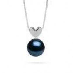 Black Akoya AAA Pearl Pendant - Sterling Silver