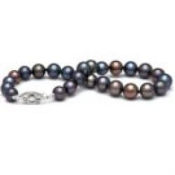 7-inch Freshwater Pearl Bracelet 6-7 mm Black