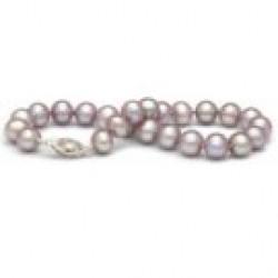 7-inch Freshwater Pearl Bracelet 7-8 mm Lavender