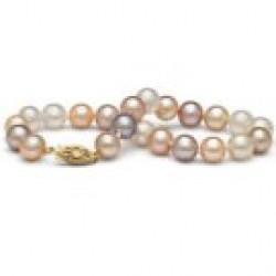7-inch Freshwater Pearl Bracelet 7-8 mm Multicolor