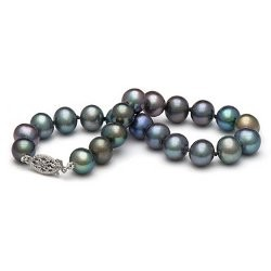 7-inch Freshwater Pearl Bracelet 7-8 mm Black