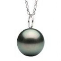 MIGNON 14k Gold Black Tahitian Pearl Pendant