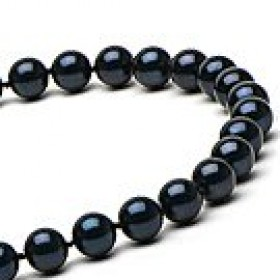 18-inch Black Akoya Pearl Necklace 6-6.5 mm AA+
