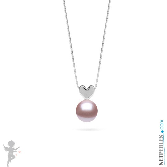 Lavender Freshadama Freshwater Pearl Pendant - Sterling Silver