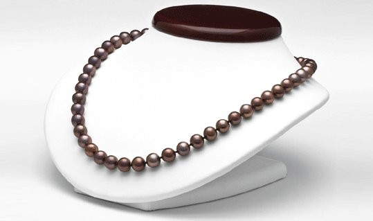 18-inch Freshwater Cultured Pearl Necklace 8-9 mm black