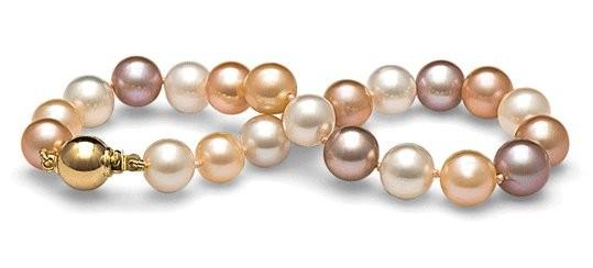 7-inch Freshwater Pearl Bracelet 9-10 mm Multicolor