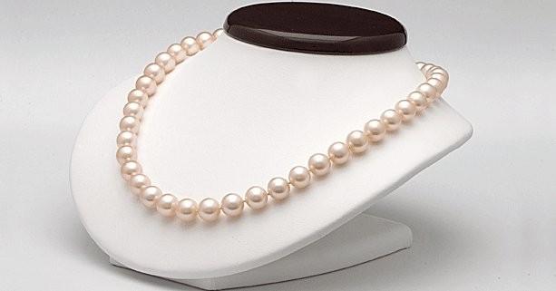 18-inch Freshwater Pearl Necklace 6-7 mm Peach FRESHADAMA
