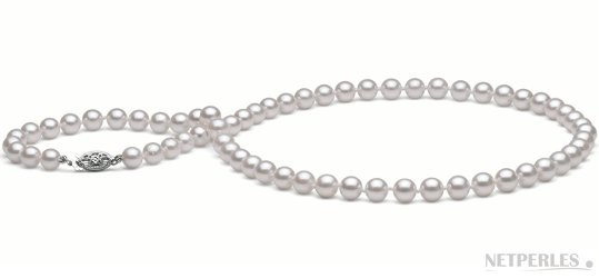18-inch Akoya Pearl Necklace 6-6.5 mm white AA+ or AAA