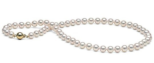 18-inch Akoya Pearl Necklace, 7.5-8 mm, white AA+ or AAA