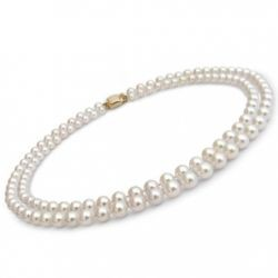 18-inch Double-Strand Akoya Pearl Necklace 6.5-7 mm