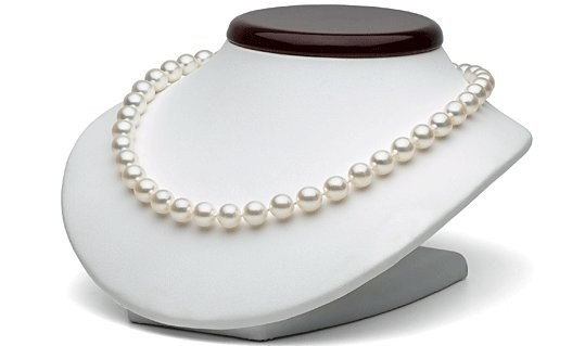 18-inch Akoya Pearl Necklace, 8.5-9 mm, white AA+ or AAA