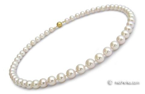 16-inch Akoya Pearl Necklace, 9-9.5 mm, white AA+ or AAA