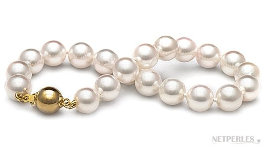 7-inch Cultured Akoya Pearl Bracelet 7.5-8 mm AA+ or AAA White