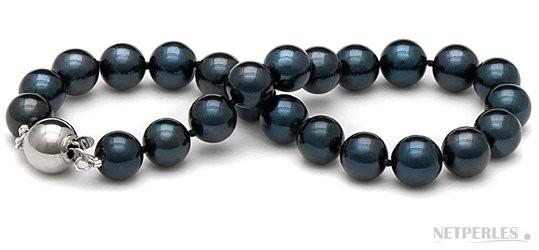 7-inch Black Akoya Pearl Bracelet 7-7.5 mm AA+ quality
