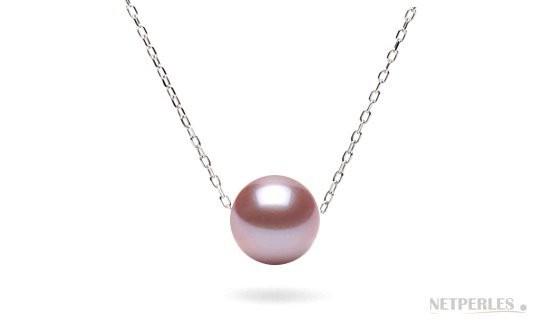 Lavender Freshadama Pearl on Sterling Silver Forzatina