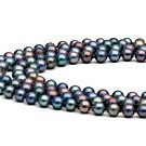 45-inch Freshwater Pearl Necklace 6-7 mm black