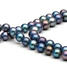 35-inch Freshwater Cultured Pearl Necklace 6-7 mm black