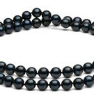 18-inch Double-Strand Black Akoya Necklace 6-6.5 mm AA+