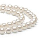 18-inch Double-Strand Akoya Pearl Necklace 8-8.5 mm white
