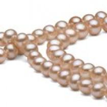 45-inch Freshwater Pearl Necklace 6-7 mm Pink to Peach
