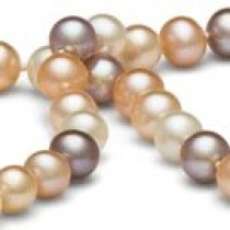 18-inch Freshwater Pearl Necklace, 7-8 mm, Multicolor