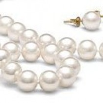 3-Piece White Freshwater Pearl Set 18-7 Inch 8-9 mm