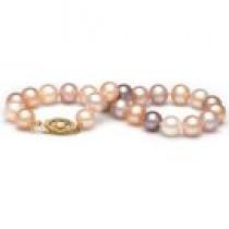 7-inch Freshwater Pearl Bracelet 6-7 mm Multicolor
