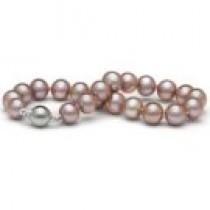 7-inch Freshwater Pearl Bracelet 8-9 mm Lavender