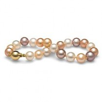 7-inch Freshwater Pearl Bracelet 8-9 mm Multicolor
