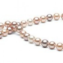 18-inch Freshwater Pearl Necklace 7-8 mm Multicolor FRESHADAMA