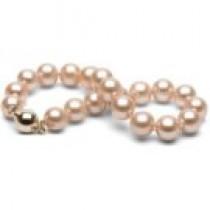 7-inch Pink to Peach Freshadama Pearl Bracelet 8-9 mm