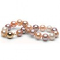 7-inch Multicolor Freshadama Pearl Bracelet 8-9 mm