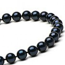 22-inch Black Akoya Pearl Necklace 7-7.5 mm AA+